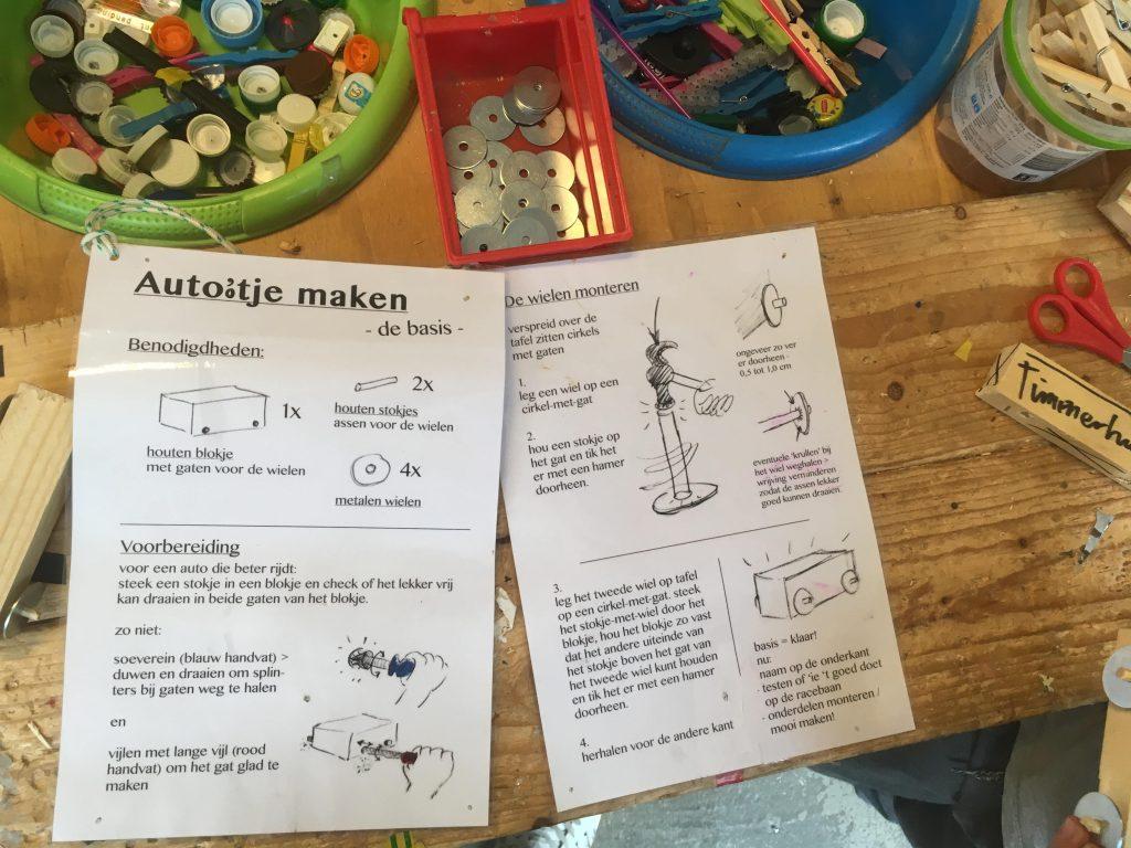 Auto bouwen en testen op racebaan